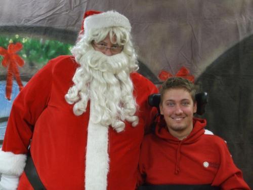 Brian and Santa