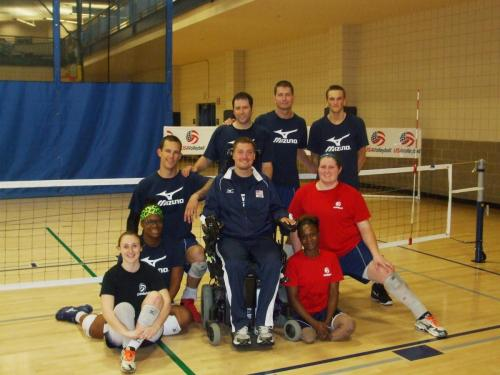 Mens' sitting Volleyball team